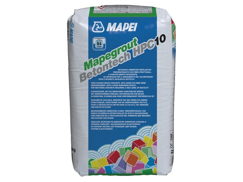 Renovation mortar and grout for renovation MAPEGROUT BETONTECH HPC10 by MAPEI