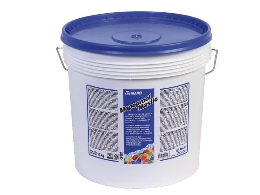 Bentonite-based waterproofing product MAPEPROOF MASTIC by MAPEI