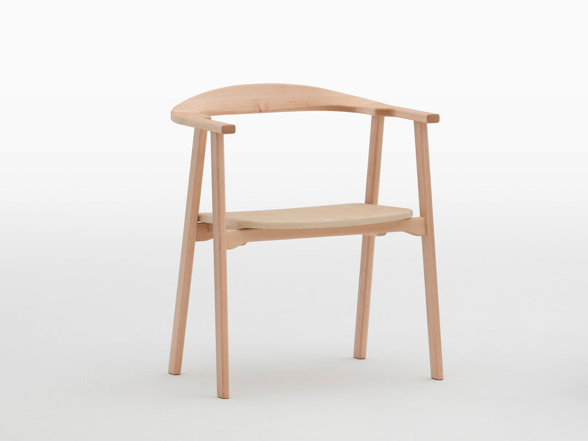 Stackable maple chair with armrests TUKKI | Maple chair by MEETEE