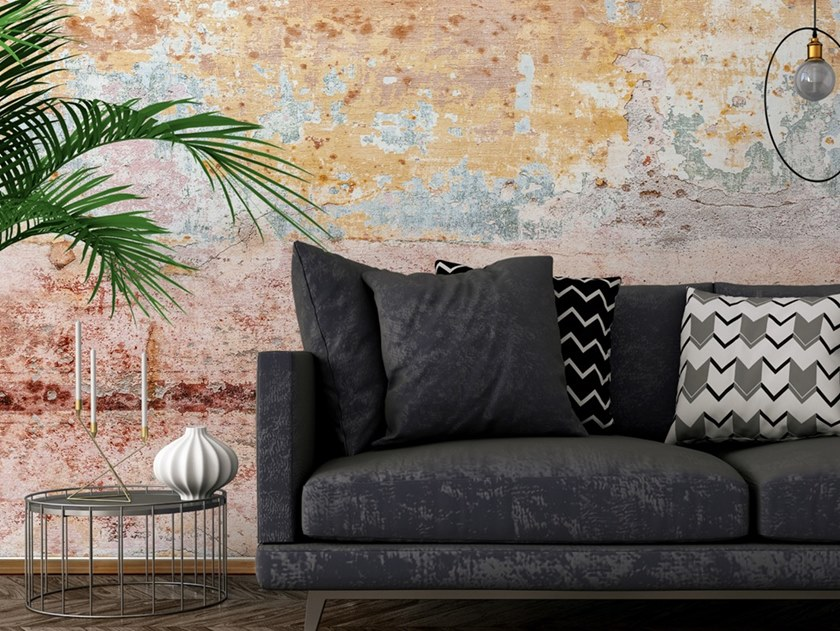 Ecological washable PVC free wallpaper MAPPA DEL TEMPO by Wallpepper