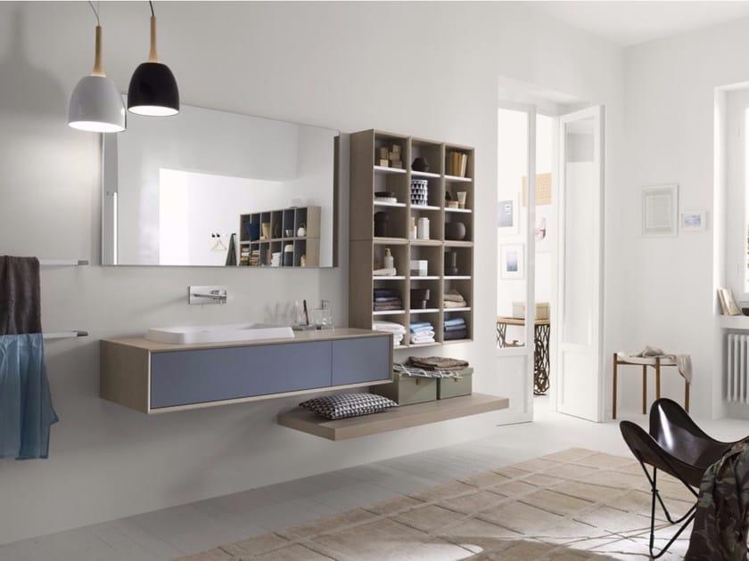 Laminate bathroom cabinet / vanity unit MAQ - Composition 1 by INDA®
