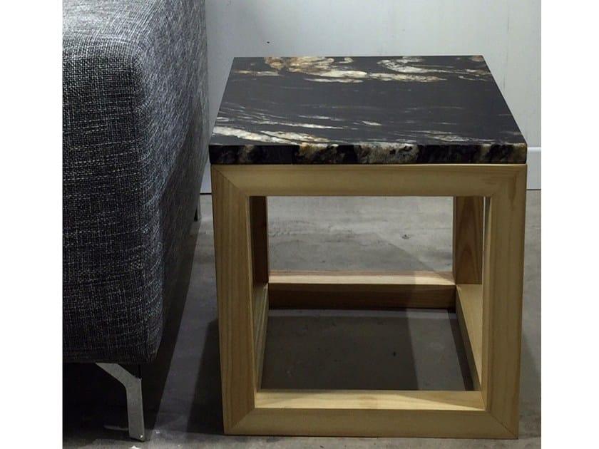 Square marble coffee table Marble coffee table by Atelier Bussière