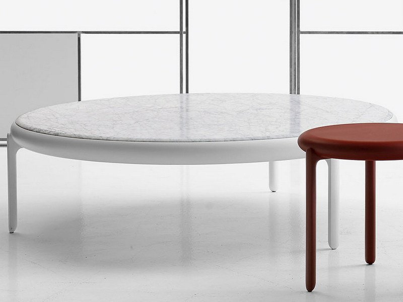 Round Marble Coffee Table Maru By B Italia