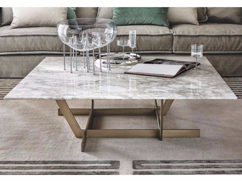 Low square marble coffee table REGENT | Marble coffee table by Casamilano