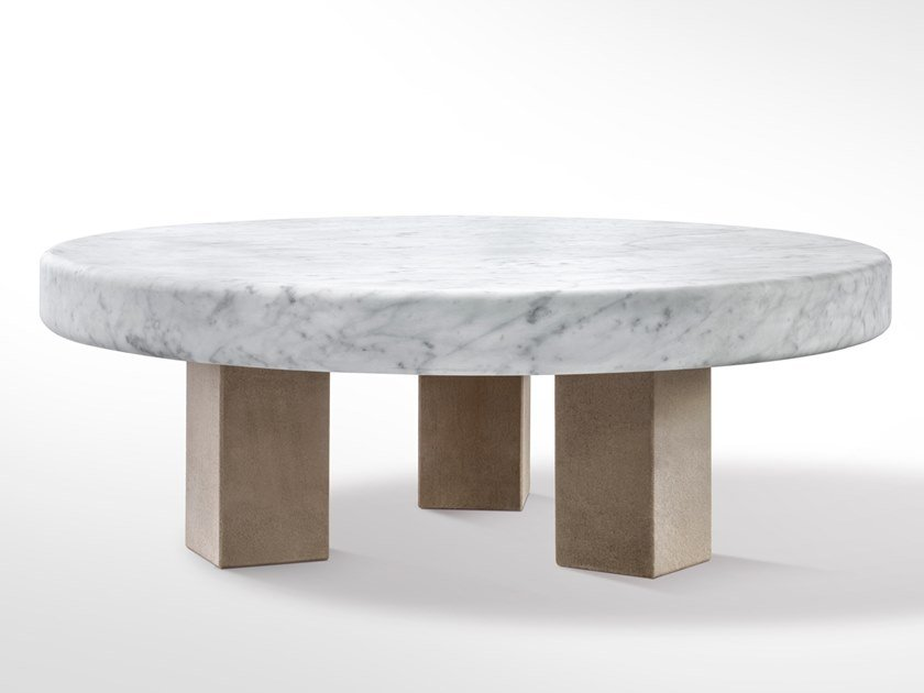 Round marble coffee table SPAN | Marble coffee table by SALVATORI