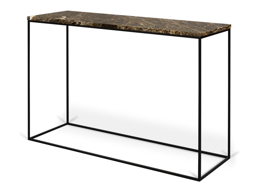 Rectangular marble console table GLEAM | Marble console table by TemaHome