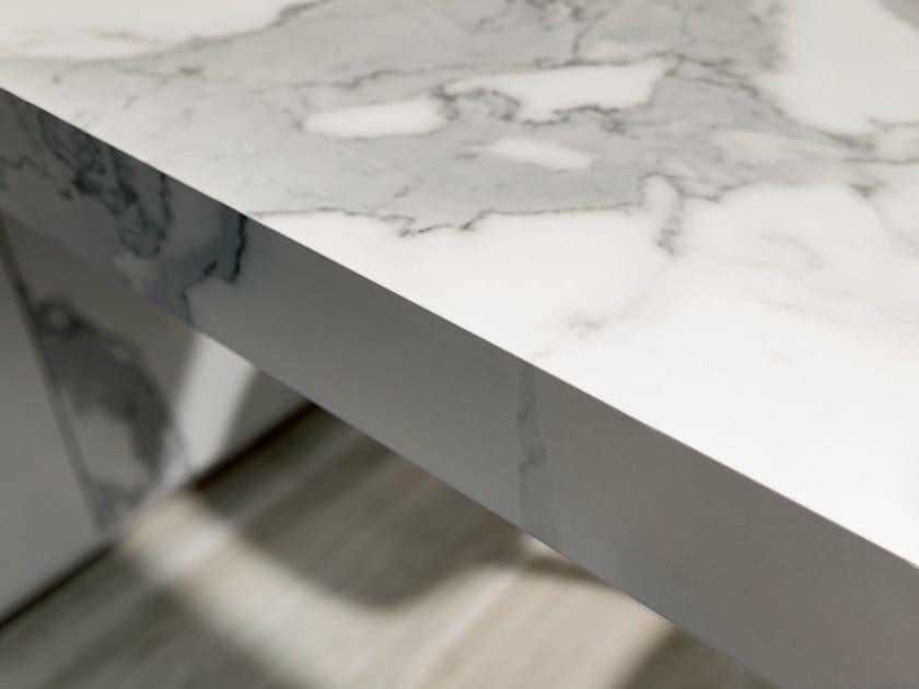 Porcelain stoneware kitchen worktop MARBLE by FLORIM stone