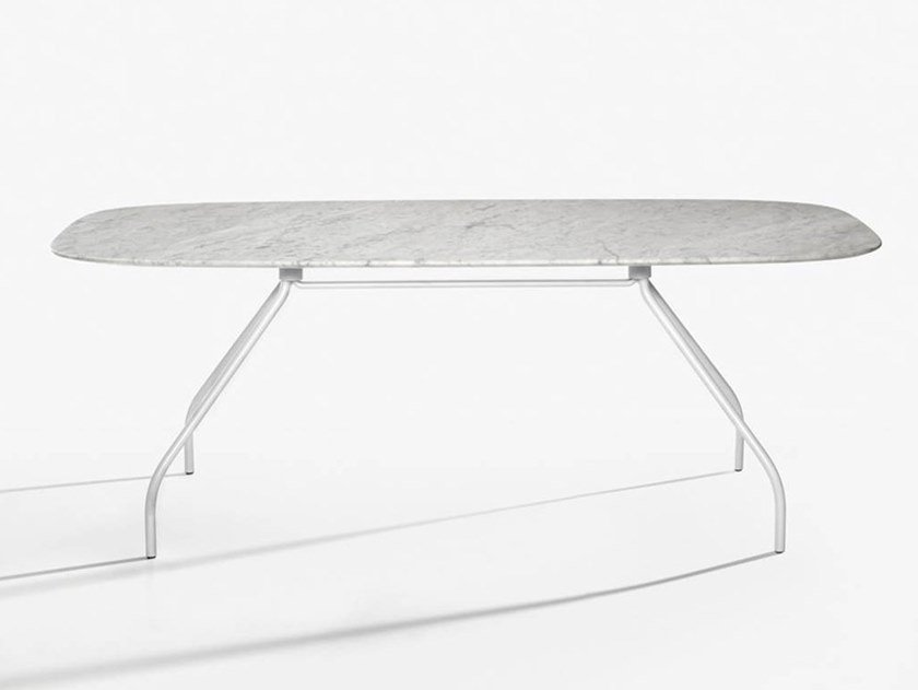 Marble office desk / meeting table SEMPIONE   Marble office desk by IOC