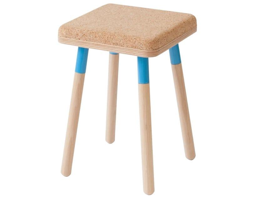 Low cork stool MARCO   Stool by UBIKUBI