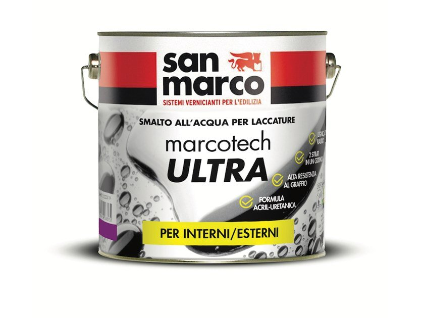 Water-based enamel for acrylic-urethane lacquering MARCOTECH ULTRA AU 40 by San Marco
