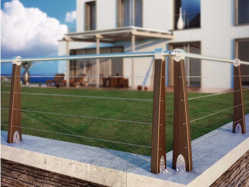 Modular pine Fence MAREA | Fence by ALCE