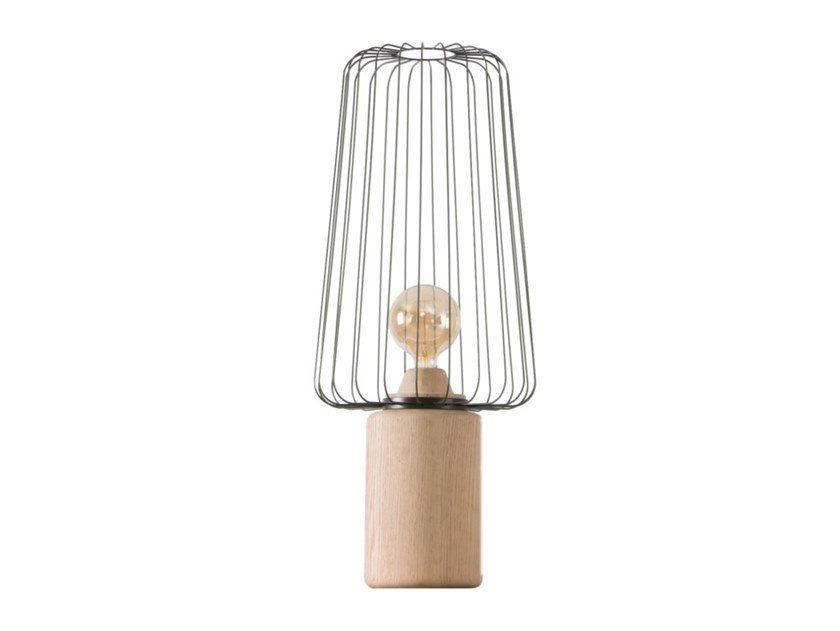 Wooden table lamp MAREVA by Flam & Luce
