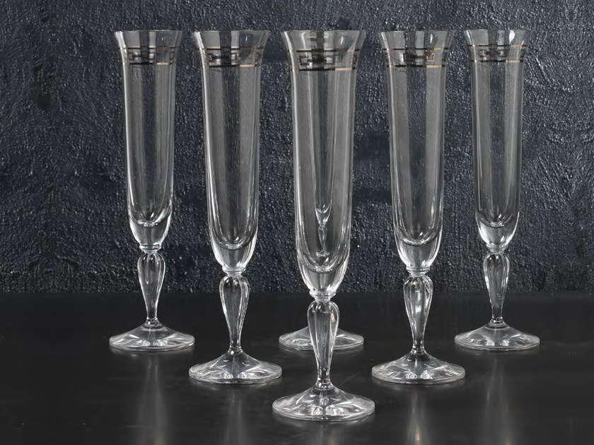 Crystal champagne glass MARGHERITA | Set champagne glass by Formitalia