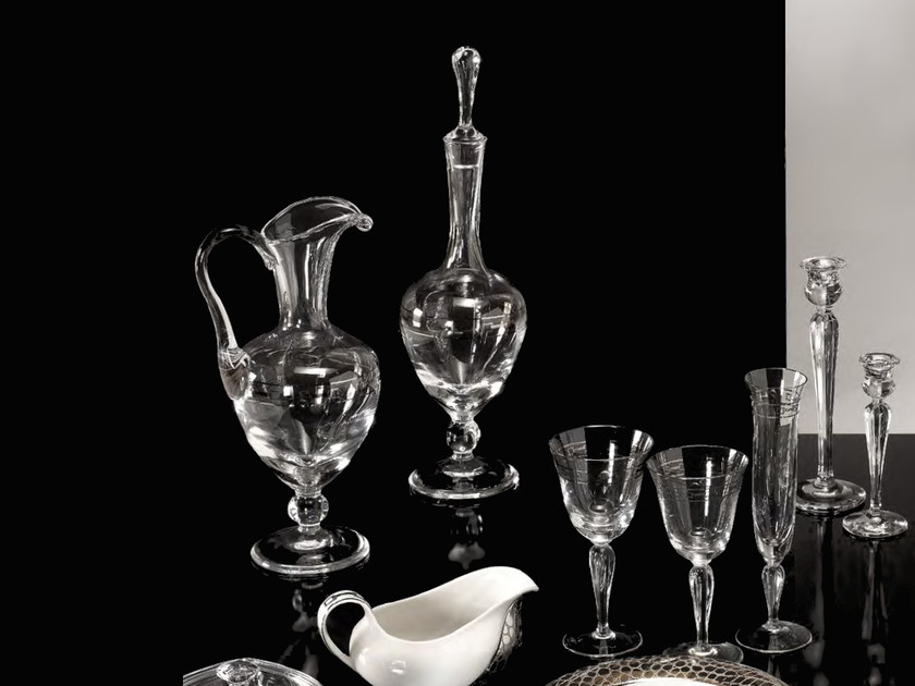 Set bicchieri in cristallo MARGHERITA | Set bicchieri by Formitalia