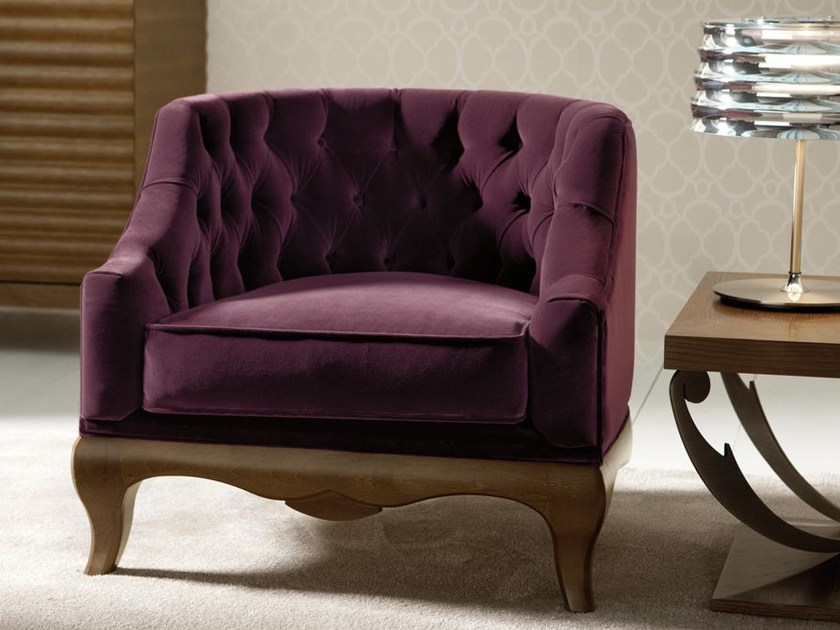 Tufted fabric armchair with armrests MARGHERITA CLASSIC   Armchair by OPERA CONTEMPORARY