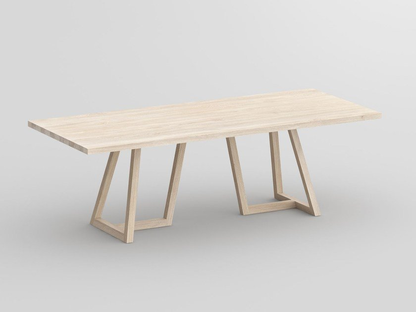 Rectangular solid wood table MARGO by Vitamin Design