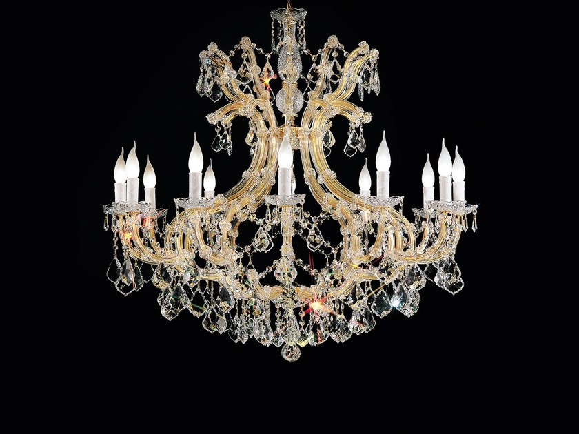 Direct light painted metal chandelier with crystals MARIA TERESA VE 926 by Masiero