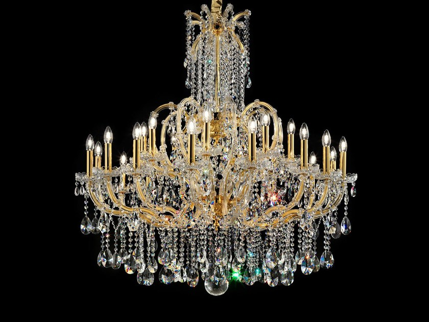 Direct light painted metal chandelier with crystals MARIA TERESA VE 929 by Masiero