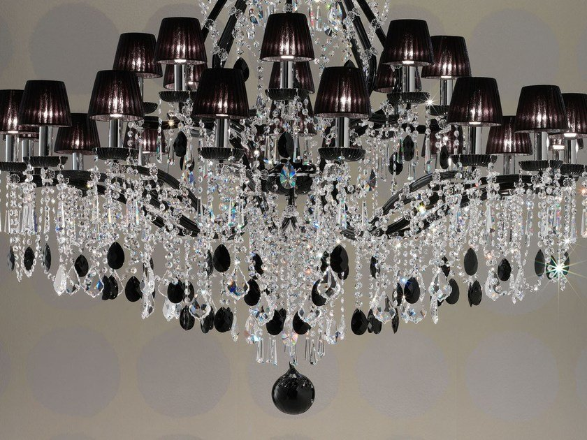 Direct light painted metal chandelier with crystals MARIA TERESA VE 953 by Masiero