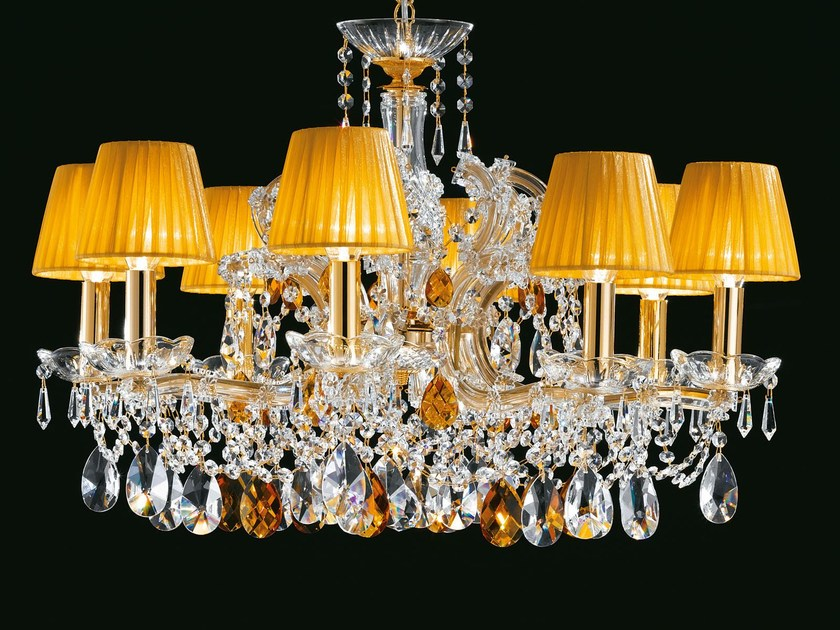 Direct light painted metal chandelier with crystals MARIA TERESA VE 960 by Masiero