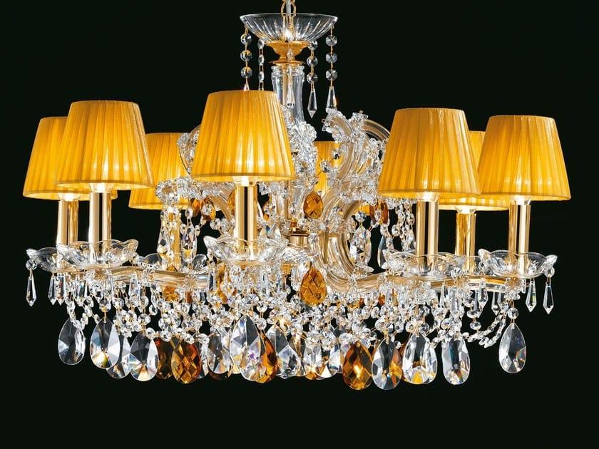 Lampadario a luce diretta in metallo verniciato con cristalli MARIA TERESA VE 960 by Masiero