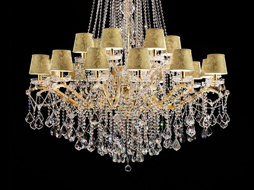 Direct light painted metal chandelier with crystals MARIA TERESA VE 987 by Masiero