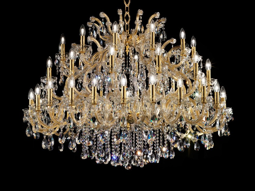 Direct light painted metal chandelier with crystals MARIA TERESA VE 988 by Masiero