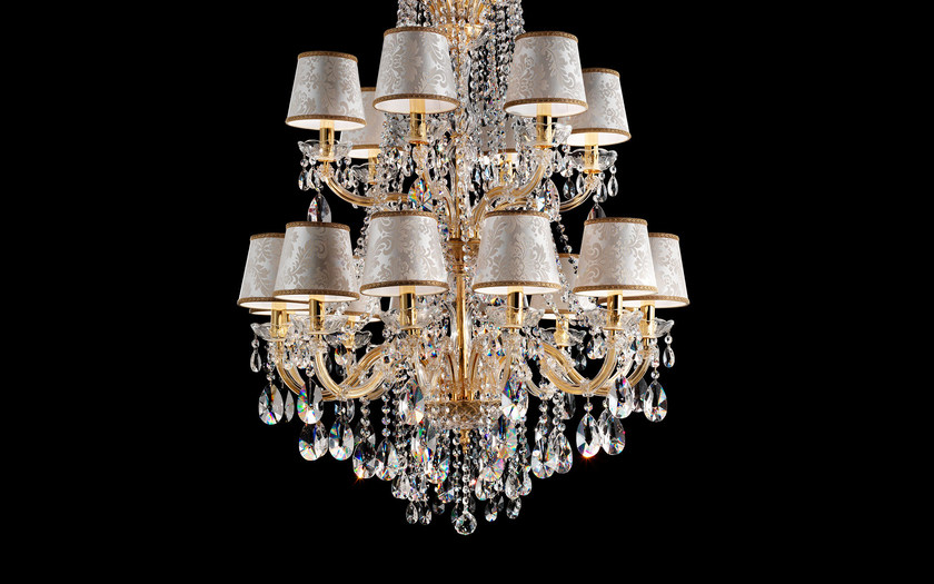Direct light painted metal chandelier with crystals MARIA TERESA VE 992 by Masiero