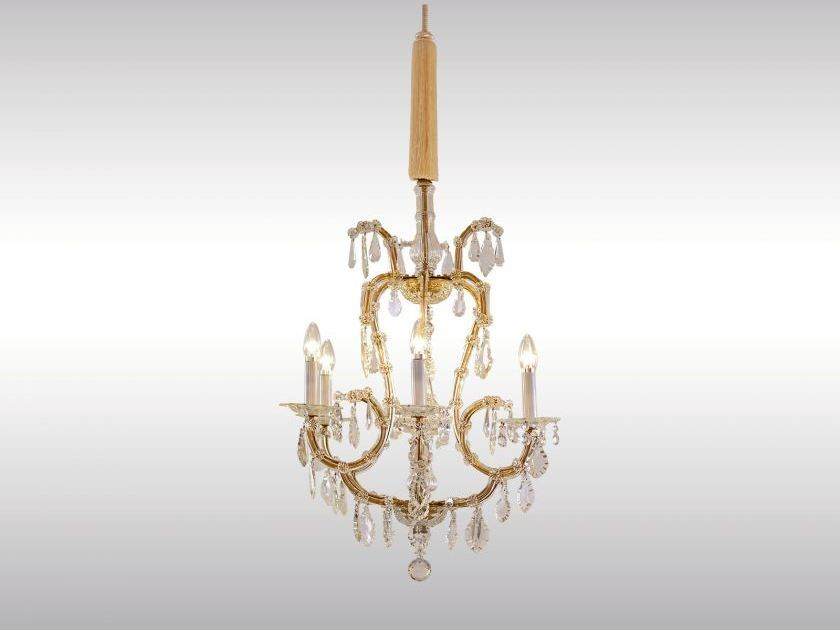 Classic style crystal chandelier MARIA THERESIA CHANDELIER by Woka Lamps Vienna