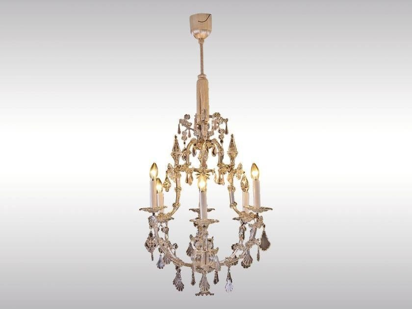 Classic style glass and iron chandelier MARIA THERESIEN LUSTER by Woka Lamps Vienna