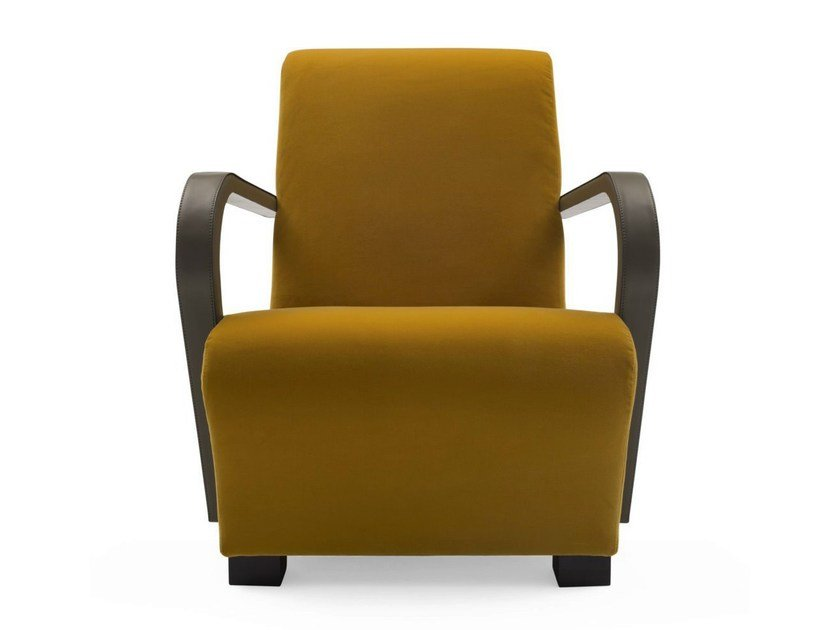 Rubber armchair with armrests MARILYN by Bodema