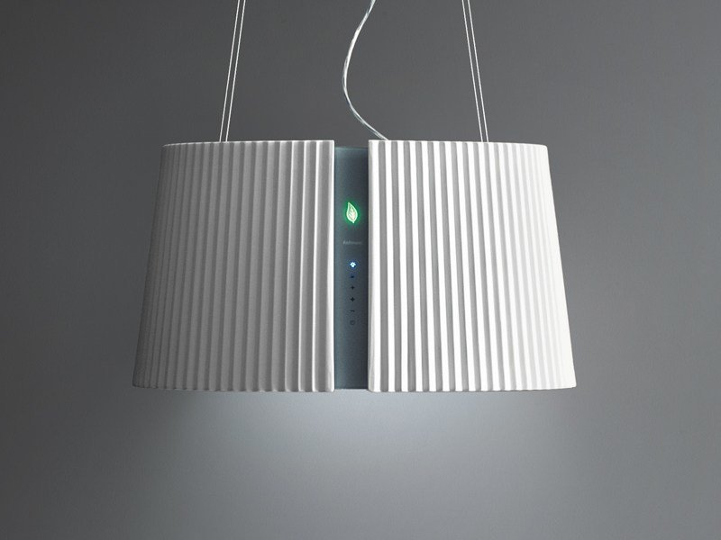 Ceramic cooker hood with bipolar controlled ionization MARILYN E.ION by Falmec