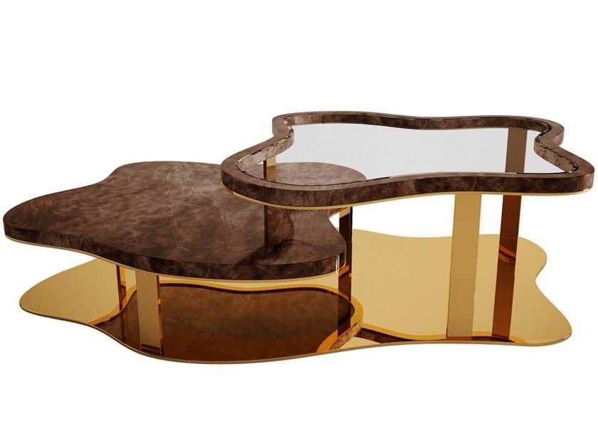 Walnut coffee table for living room MARINA | Coffee table by Malabar
