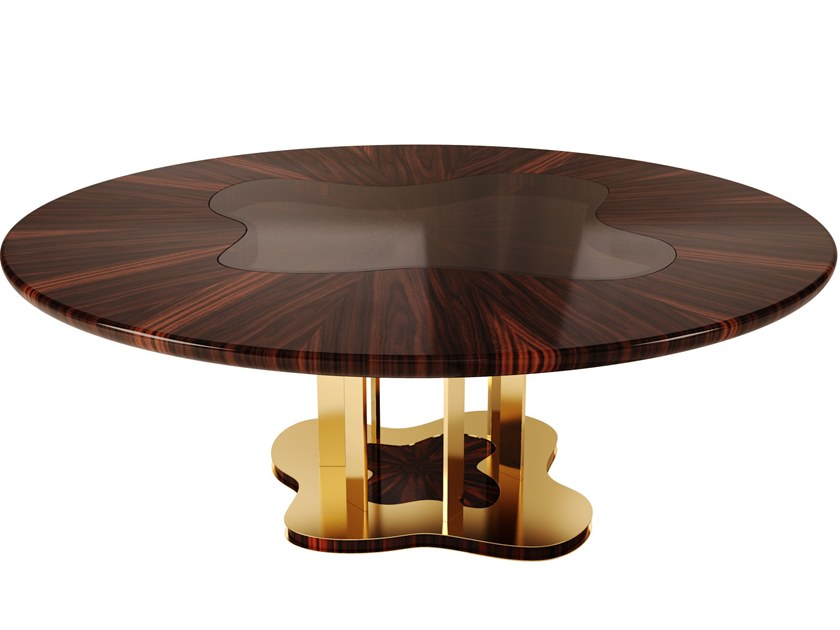 Round wood veneer dining table MARINA | Dining table by Malabar
