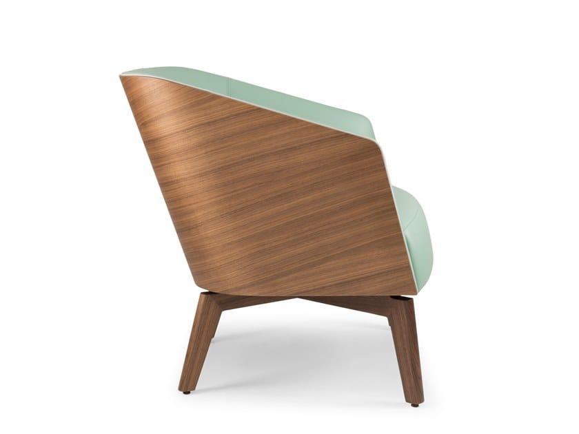 Armchair with armrests MARLÈNE LOUNGE 330W WOOD | Armchair by Riccardo Rivoli