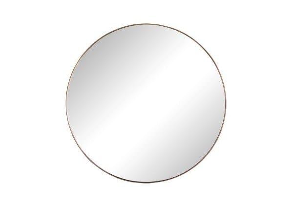 Round wall-mounted framed mirror MARLENE | Round mirror by BAXTER