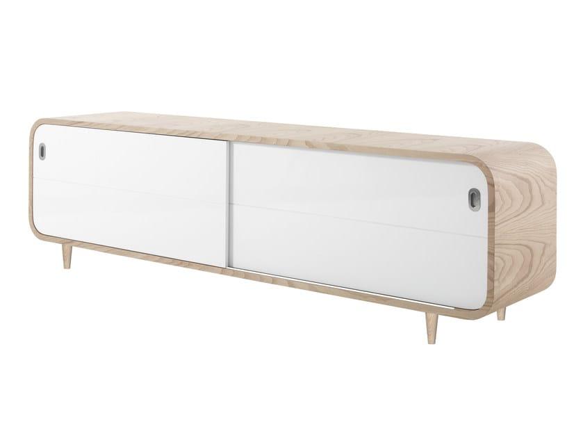 Wood veneer sideboard with sliding doors MARLY | Sideboard with sliding doors by AZEA