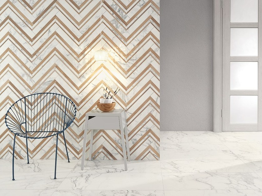 Porcelain stoneware wall/floor tiles with marble effect MARMI BIANCHI by Ceramiche Coem