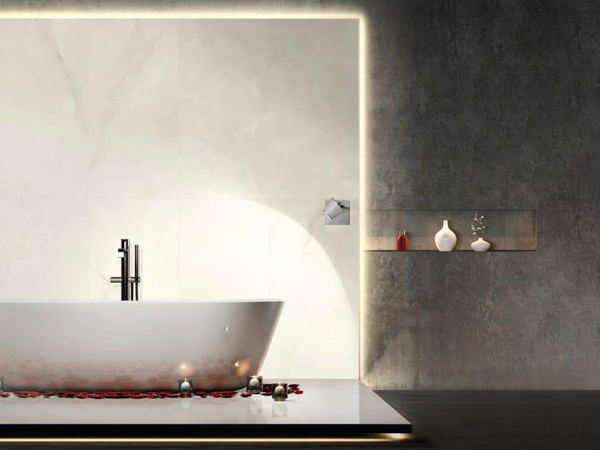 Pavimento/rivestimento in gres porcellanato effetto marmo MARMI CLASSICI - ONICE BIANCO EXTRA by ARIOSTEA