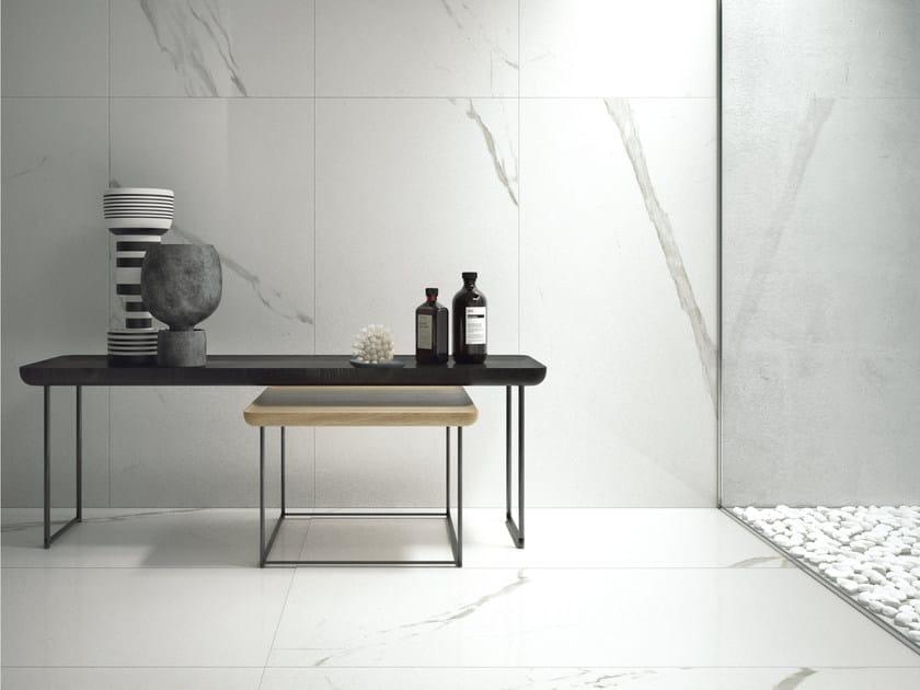 Pavimento rivestimento in gres porcellanato effetto marmo marmi classici statuario classico - Rivestimento bagno effetto marmo ...