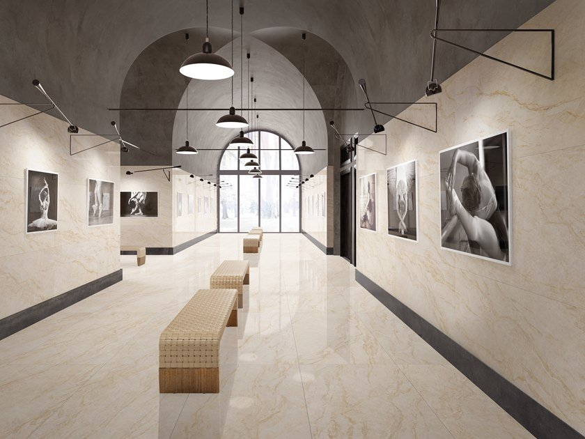 Pavimento/rivestimento in gres porcellanato effetto marmo MARMI TAJ MAHAL by La Fabbrica
