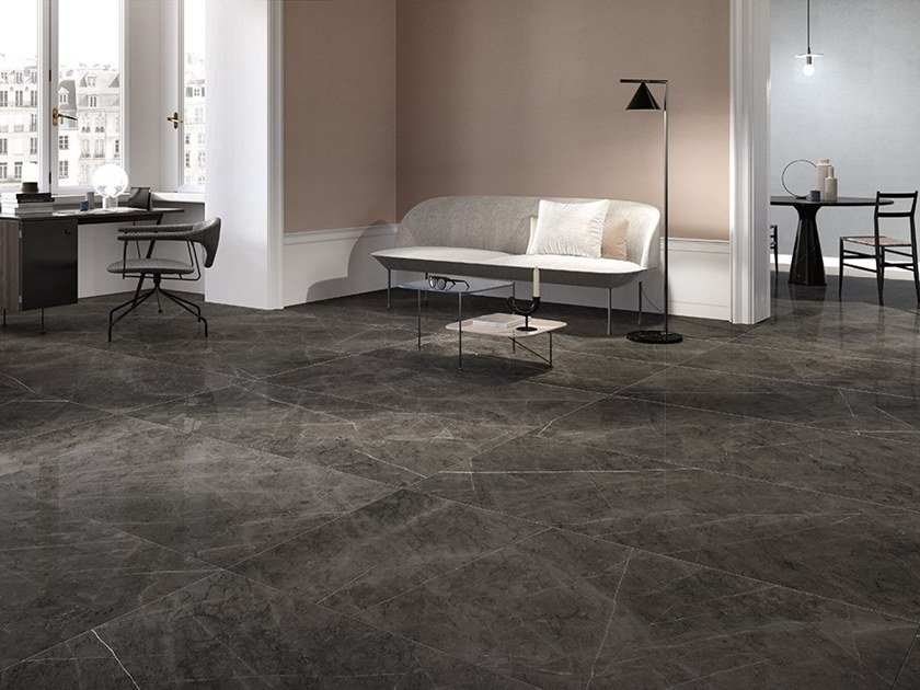 Porcelain stoneware wall/floor tiles with marble effect MARMOREA2 by Ceramica Fioranese