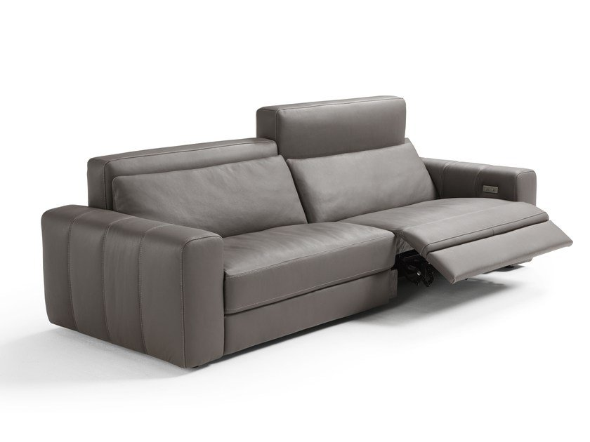 Relaxing Leather Sofa With Electric Motion MARNI | Leather Sofa By  Egoitaliano