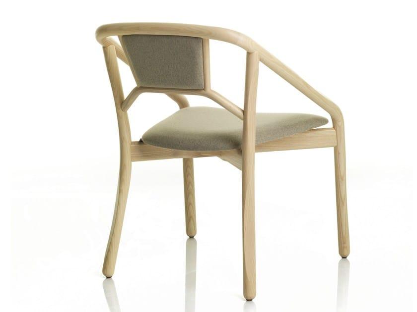 Sedia Imbottita Design : Sedia imbottita con braccioli marnie sedia alma design