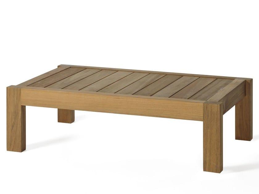 Low teak garden side table MARO | Coffee table by OASIQ