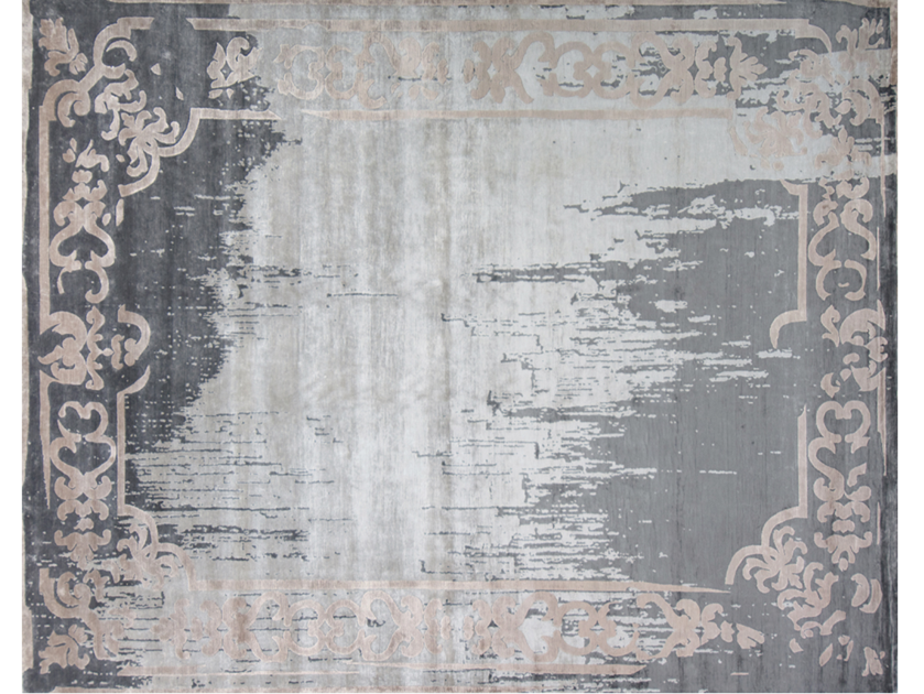 Handmade rectangular rug MARQUISE ARTY VINTAGE STANDARD by EDITION BOUGAINVILLE