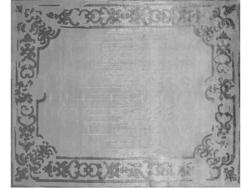 Handmade rectangular rug MARQUISE SHADOW VINTAGE PEARL by EDITION BOUGAINVILLE