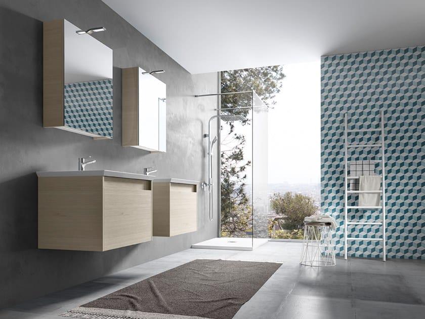 Mobile lavabo sospeso con specchio MARS 01 by BMT