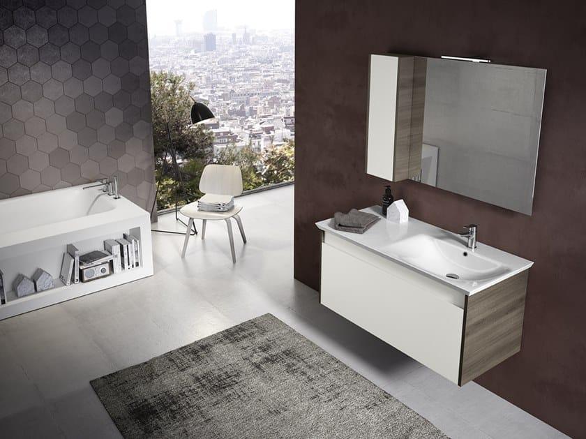 Mobile lavabo sospeso con specchio MARS 04 by BMT