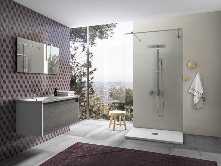 Mobile lavabo sospeso con specchio MARS 06 by BMT
